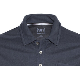 super.natural Comfort Piquet t-shirt Heren blauw